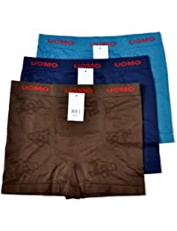 Uomo Pack of 3 Men's Boxer Shorts Underwear
