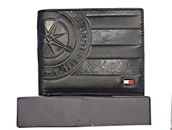 Tommy Hilfiger Black BI-fold Mens Wallet