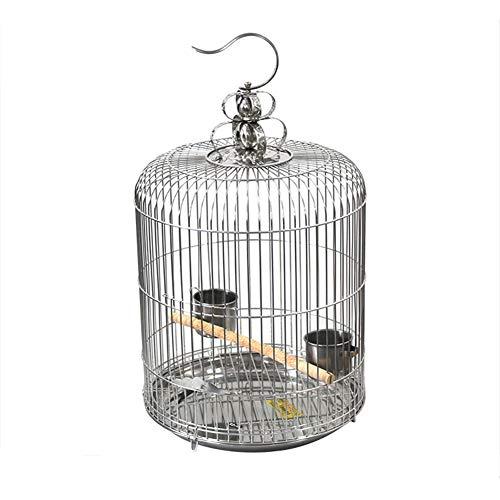 ZZQ Dekorative Vogelkäfig Stil Käfig Vogel Papagei Spielzeug Leiter Vogelnest Eisenkunst Robust Langlebig Großraum Mittelgroßer Vogelkäfig (Dekorative Vogelkäfige)
