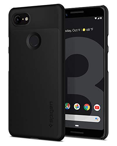 Spigen Thin Fit, Google Pixel 3 Hülle, F19CS25038 Slim PC Schale Hardcase Leichte Schutzhülle Schlank Elegant Handyhülle Case (Schwarz)