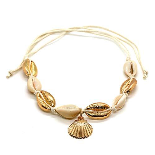 us Kaurimuscheln in weiß und goldfarbenen Kauris ()