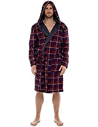 ebc963a53f Wolf   Harte Mens Check Flannel Fleece Lined Dressing Gown