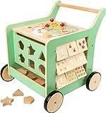 Small foot 10455 chariot de marche en bois 'Move it !' , favorise la dexérité, la motricité et l'apprentissage à la marche, à partir de 1 an