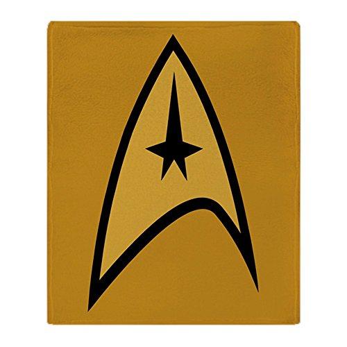CafePress-Star Trek-weicher Fleece Überwurf Decke, 127x 152,4cm Stadion Decke, weiß, 50x60 (Star Trek Bettwäsche)
