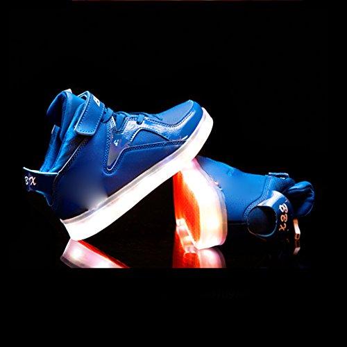 BOOWJESSEA , Baskets mode pour fille Bleu