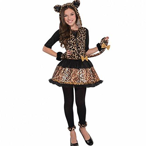 'Sassy Spots' Leopard Kinder Kostüm - 8 bis 10 - Kinder Dschungel Kostüm