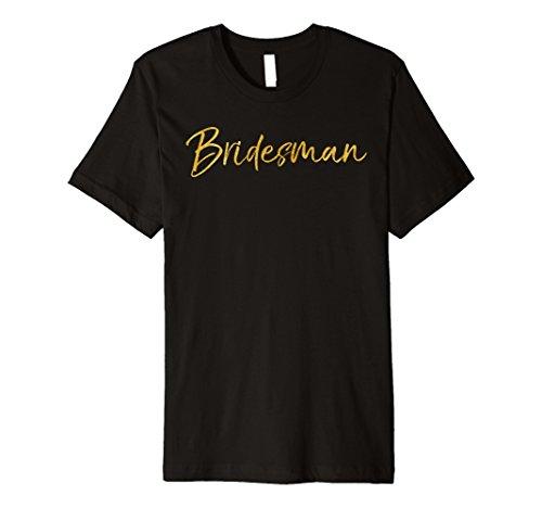 (Brautjungfer Shirt Funny Cute Gold Guy Brautjungfer Shirt für Herren)