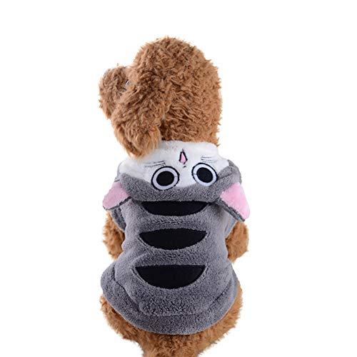 (joizo 1pc Karikatur-Entwurfs-Maskottchen-Kostüm Hotdog Flanell Hoodie Jumpsuit Mascot Winterkleidung Sweatshirt Kleid für Weihnachtsfest (n))
