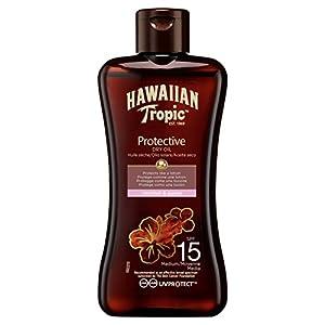 Hawaiian Tropic Tanning Oil MINI – Aceite Bronceador Solar con Protección SPF 15, Acelerador del Bronceado con Fragancia Tropical, Formato Viaje 100 ml