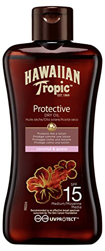 Hawaiian Tropic Protective Dry Oil LSF 15, 100 ml