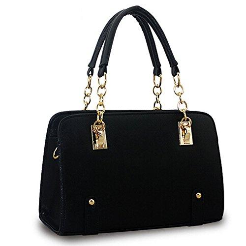 Donne in pelle delle donne borsa Qualora le borse del progettista dei nuovi della celebrit qualitTote Capacit Piazza Package Large Nero