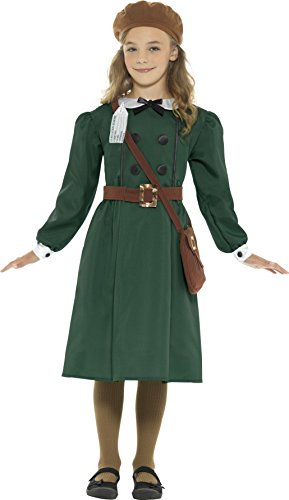 SMIFFY 'S WWII Evacuee Mädchen Fancy Kleid British World War 2Buch Tag Kinder Kinder Kostüm (Halloween-kostüme Für Tweens Mädchen)