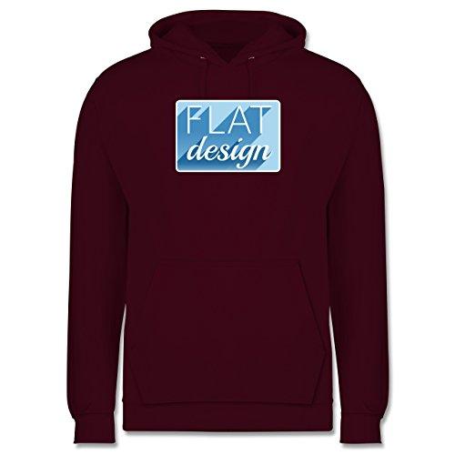 Nerds & Geeks - Flat design - Männer Premium Kapuzenpullover / Hoodie Burgundrot