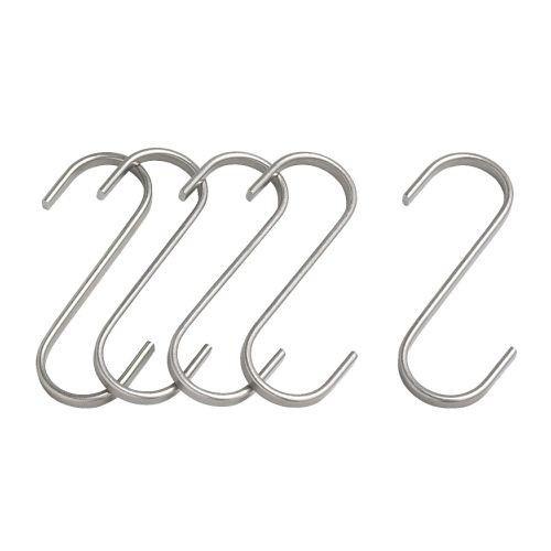 Ikea-Grundtal-Ganchos-en-forma-de-S-11-cm-5-unidades-acero