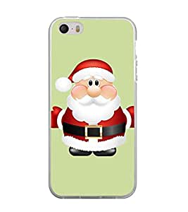 Printvisa Animated Cute Santa Claus Back Case Cover for Apple iPhone 5::Apple iPhone 5S