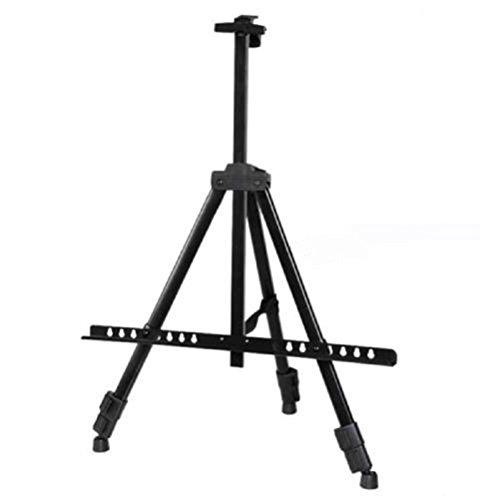 ROSENICE Faltender Künstler-Teleskopfeld-Studio-Malerei-Gestell-Stativ-Ausstellungsstand (schwarz)