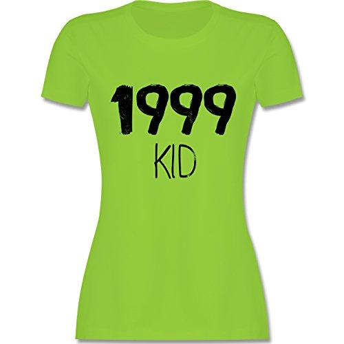 Shirtracer Geburtstag - 1999 Kid - Damen T-Shirt Rundhals Hellgrün