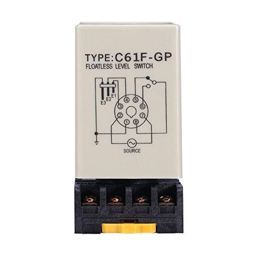 Interruttore di livello senza galleggiante, C61F-GP AC220V 50 / 60HZ Regolatore di livello del liquido con base per l\'industria dell\'acqua