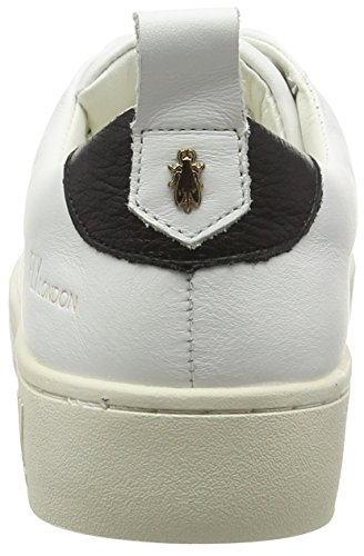 FLY London Maco833fly, Baskets Basses Femme Blanc (White)