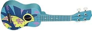 Stagg Turtle Design Ukulélé avec housse (Bleu)