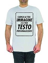 Idea Regalo - T-Shirt Personalizzata Online Crea Ora la Tua Maglia con Immagine e Testo Personalizzabile Manica Corta (XXL)