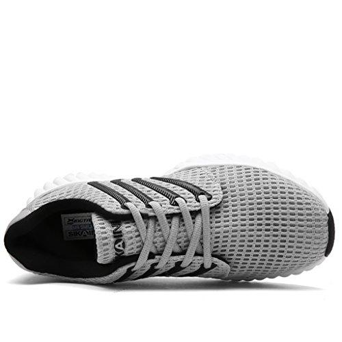 HUSK'SWARE Basket Couples Chaussure de Course Running Sport Sneakers Femme Homme Gris