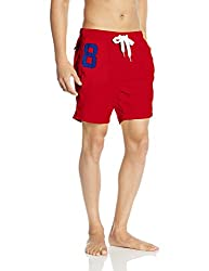 Superdry Mens Synthetic Shorts (5054265365249_M30MP005_XX-Large_Hyper Red)