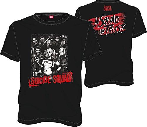 Suicide Squad Group T-Shirt schwarz Baumwolle Schwarz