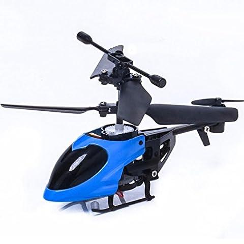 Kingko® Geben Sie dem Kind eine glückliche Kindheit RC 5012 2CH Mini Rc Hubschrauber Radio Fernbedienung Flugzeug Micro 2 Kanal (Blau)