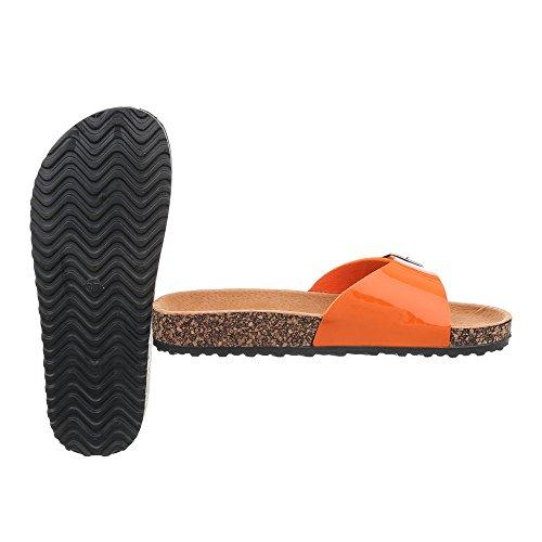 Sandali Italiani Di Design Muli Scarpe Sandali Leggeri Sandali Arancione Ku-6