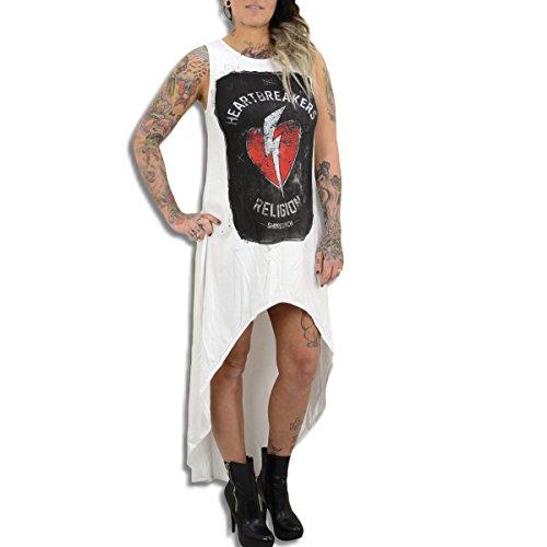 Religion Kleid Haertbreakers Maxi Dress weiss - locker geschnitten, fällt normal aus Weiß