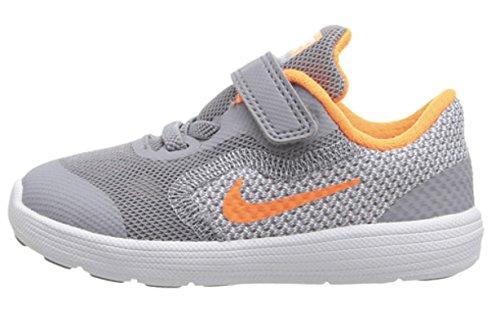 Nike Revolution 3 (Tdv), Chaussures Mixte Bébé Noir (Furtif / Total Orange-Blanc)