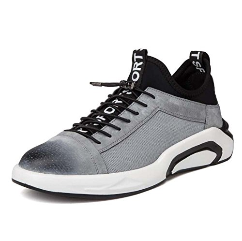 Hommes Chaussures de Sport Running Casual Mode Sport Chaussures Marée Respirant Trend Sneakers Plate Chaussures Noir/Gris Taille 38-44