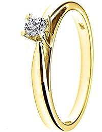 & You Damen -  9_k_(375)  Gelbgold Rund   Weiß/Wesselton (H) Diamant