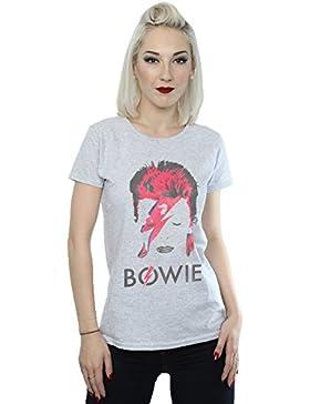 David Bowie mujer Aladdin Sane Distressed Camiseta