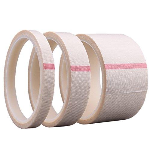 Nastro in teflon rivestito in fibra di vetro ptfe, nastro per alte temperature, nastro sigillante per saldatura (30 mm x 11 metri x 0,13 mm (bianco))