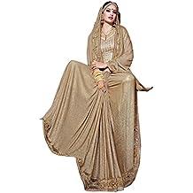 Heavy usura georgette net designer lavoro originale Bollywood etnico indiano da sposa Sari Saree sexy 7038