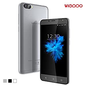 Smartphone 4G Unlocked, Wieppo S6 Mobile Phone Dual SIM Free with 5.5 Inch HD 1280*720 Display, Dual Camera 8MP+5MP, 2GB RAM+16GB ROM, Android 7.0, 3000mAh Battery (Silver)