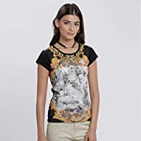 Smiley World T-Shirts For Women, Multi Color M