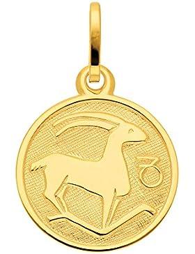 Gold 8 k ( 333 ) Sternzeichen Anhänger - Steinbock - Ø 11,8 mm