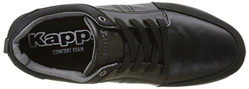 Kappa Herren Caymes Sneaker Schwarz - Schwarz (Black)