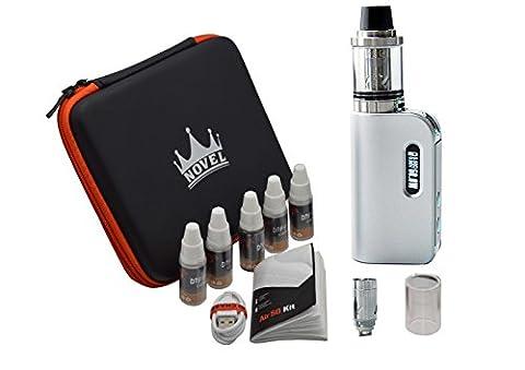 NOVEL™ Dampfen E-Zigarette Ebox 7~50W Box Mod Akkuträger E Zigaretten Set Coil Atomizer / Verdampfer Starterset Nikotinfreie Zigaretten (Silber)