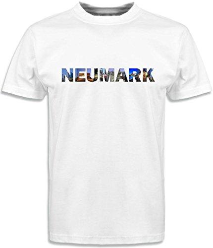 T-Shirt mit Städtenamen Neumark Weiß