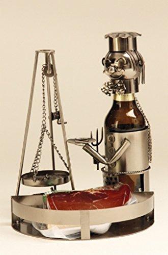 Bier Flaschenhalter Schwenker mit Tablett Metall Flaschenständer Metallständer