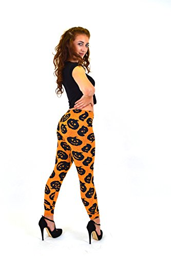 lloween Stretch Long length Leggings Costume Novelty Pants Trousers (Halloween Outfits Für Schwangere Frauen)