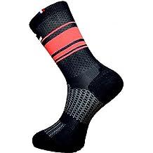 Rafa l 499 Calcetines Ciclismo Unisex Adulto, Color Negro/Rojo, FR: