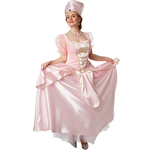 dressforfun Kostüm Prinzessin Dornröschen | Zauberhaftes Kleid mit besticktem Brustbereich inkl. Krone (XXL | no. 301882)