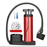 Cassiel Y Bomba Plegable Portátil, Mini Roja con Manómetro