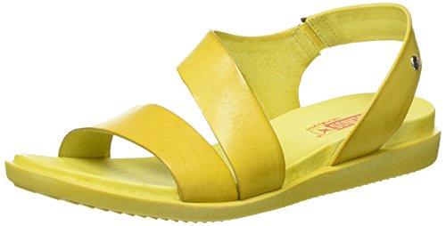 Pikolinos Damen Antillas W0h_v17 Offene Sandalen mit Keilabsatz Gelb (SOL)
