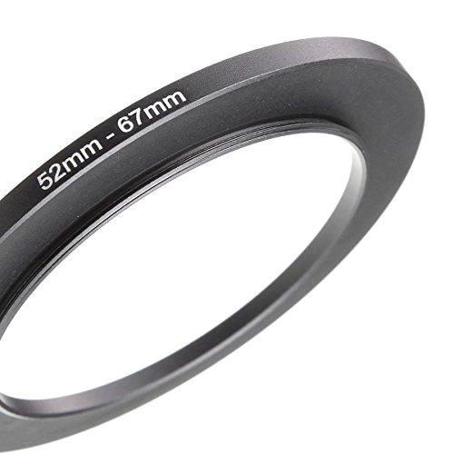 LUMOS 52-67 step up Adapter Ring Filteradapter | Metall Adapterring von Kamera Objektiv mit 52mm Filtergewinde auf 67mm Zubehör Filter -